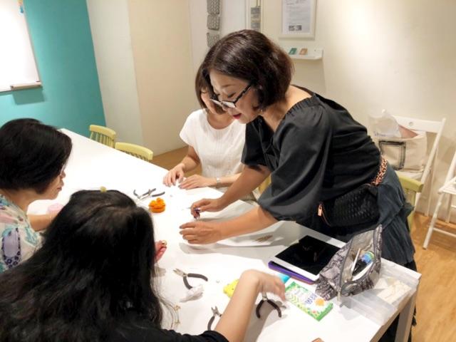 台湾でアクセサリー教室を開催しました!
